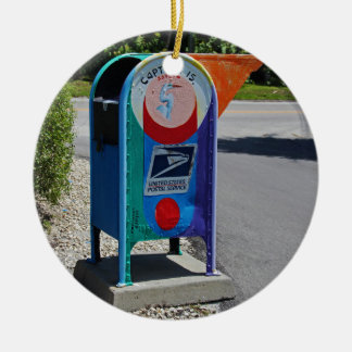 Captiva Island Mailbox- horizontal Ceramic Ornament
