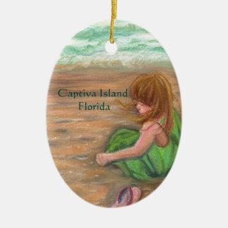 Captiva Island Princess Florida Art Ceramic Ornament