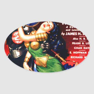 Captive of the Thieves Star Oval Sticker