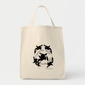 Captivity Kills the Spirit Grocery Tote Bag