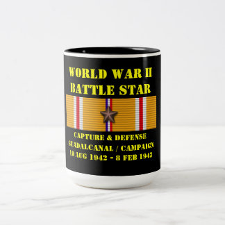 Capture And Defense Of Guadalcanal Campaign Two-Tone Coffee Mug