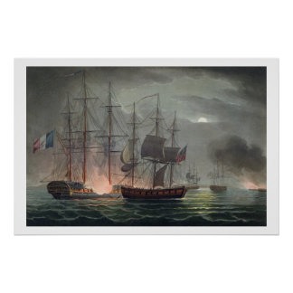 Capture of La Desiree, July 7th 1800, from 'The Na Poster