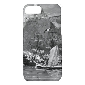 Capture of the French Privateer Sandwich by armed_ iPhone 7 Case