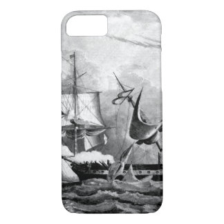 Capture of the Guerriere by the Constitution_War I iPhone 7 Case
