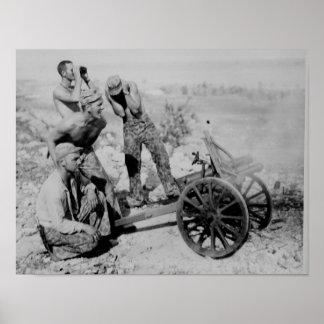Captured Artillery Poster