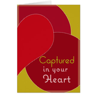 Captured in your heart card