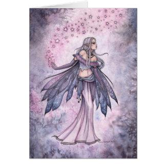 Captured Sky Star Fairy Fantasy Watercolor Art Card