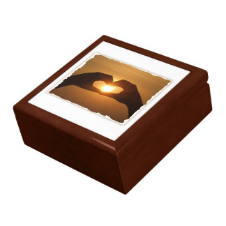 Capturing The Sunset Hands Gift Box