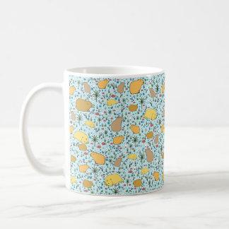 Capybara Mug, Blue Coffee Mug