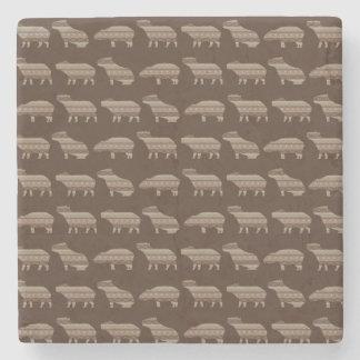 Capybara Pattern Coaster Stone Coaster
