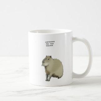 capybara trivia classic white coffee mug