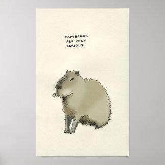 capybara trivia poster