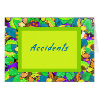 Car Accident Card, Bright and Cheerful Card