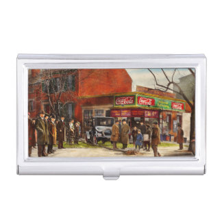 Car - Accident - Looking out for number one 1921 Business Card Holder