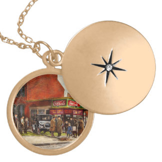 Car - Accident - Looking out for number one 1921 Gold Plated Necklace