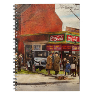 Car - Accident - Looking out for number one 1921 Spiral Notebooks