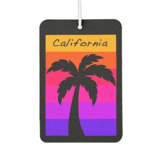 Car Air Freshener California Palm Tree Sunset