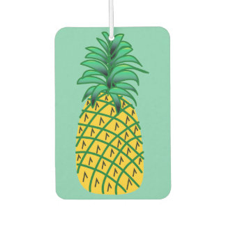 Car Air Freshener with Pineapple Art