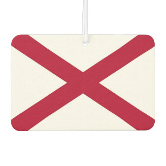 Car Air Fresheners with Flag of Alabama, USA