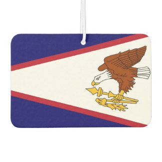 Car Air Fresheners with Flag of American Samoa USA