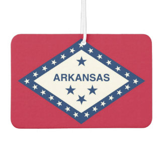 Car Air Fresheners with Flag of Arkansas, USA
