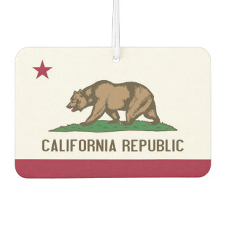 Car Air Fresheners with Flag of California, USA