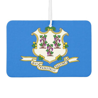 Car Air Fresheners with Flag of Connecticut, USA