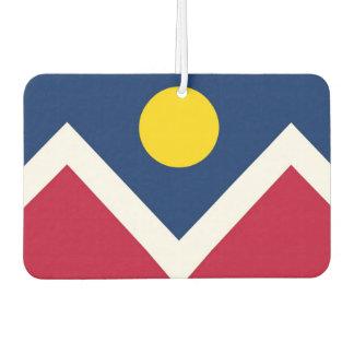 Car Air Fresheners with Flag of Denver City, USA