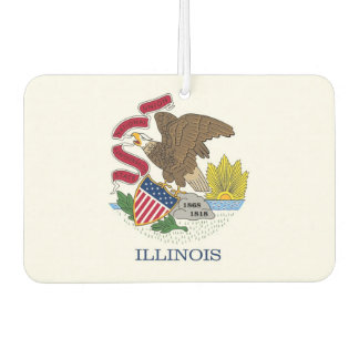 Car Air Fresheners with Flag of Illinois, USA
