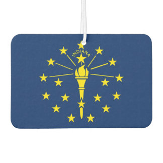 Car Air Fresheners with Flag of Indiana, USA