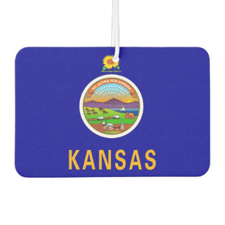 Car Air Fresheners with Flag of Kansas, USA