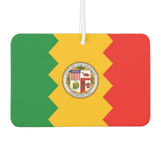Car Air Fresheners with Flag of Los Angeles, USA