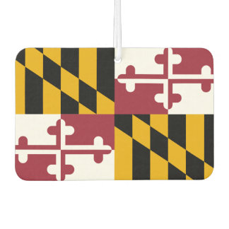 Car Air Fresheners with Flag of Maryland, USA