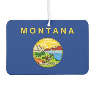 Car Air Fresheners with Flag of Montana, USA