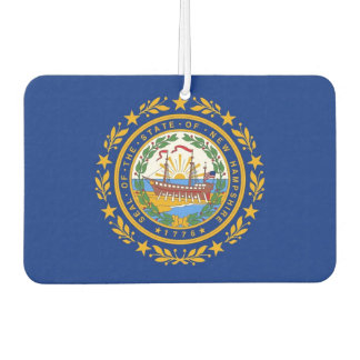 Car Air Fresheners with Flag of New Hampshire, USA