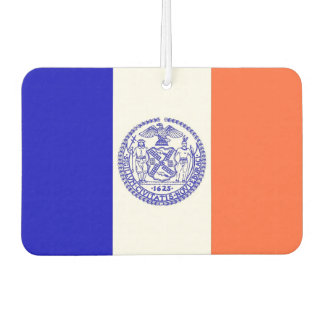 Car Air Fresheners with Flag of New York City, USA