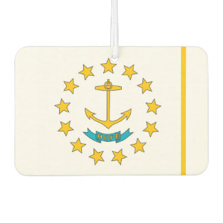 Car Air Fresheners with Flag of Rhode Island