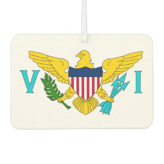 Car Air Fresheners with Flag of Virgin Islands