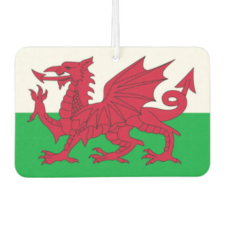 Car Air Fresheners with Flag of Wales