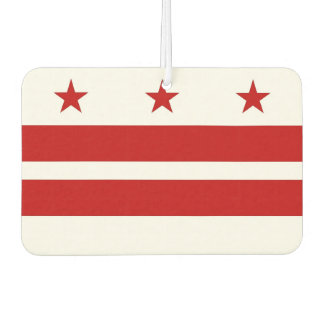 Car Air Fresheners with Flag of Washington DC