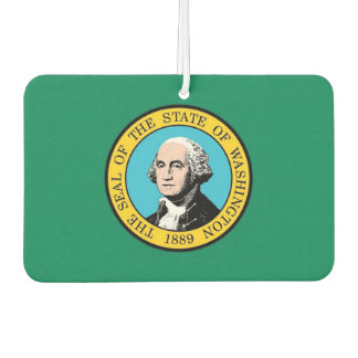 Car Air Fresheners with Flag of Washington State
