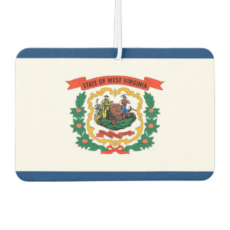 Car Air Fresheners with Flag of West Virginia