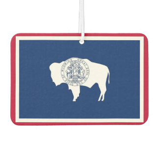 Car Air Fresheners with Flag of Wyoming