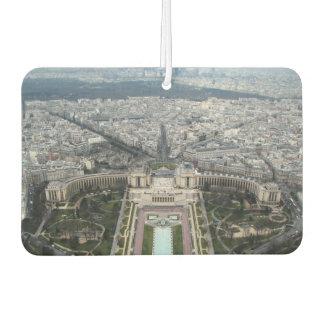 Car Air Fresheners with panorama of Paris