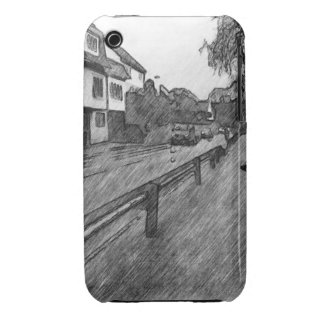 car and traffic drawing iPhone 3 case