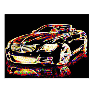 Car Art Postcard