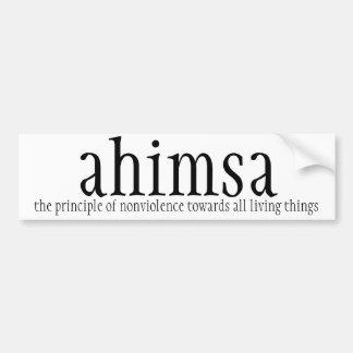 car bumper sticker - ahimsa