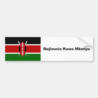 Car Bumper Sticker: proud to be Kenyan Bumper Sticker