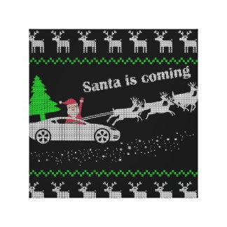 car christmas canvas print