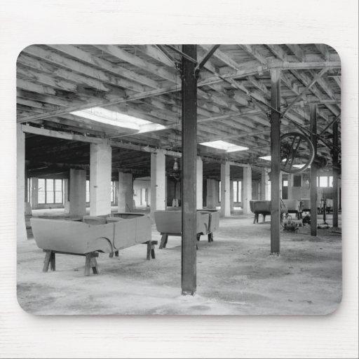 Car Company Factory, 1920s Mousepad